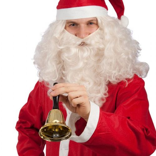 Santa Bell with Red Handle, in Box Toy School Fancy Dress Accessory